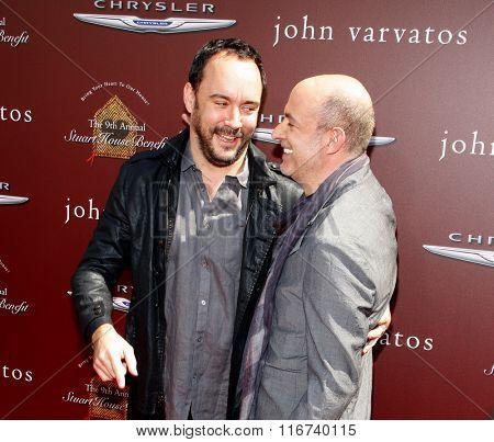 John Varvatos and Dave Matthews at the John Varvatos 9th Annual Stuart House Benefit Presented By Chrysler And Hasbro held at the John Varvatos Boutique, California, United States on March 11, 2012.