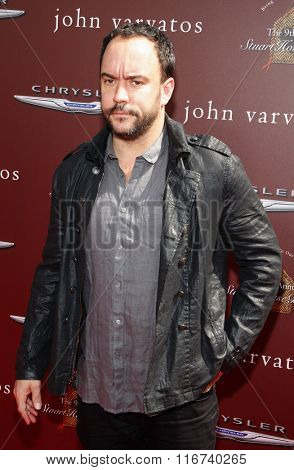 WEST HOLLYWOOD, CALIFORNIA - March 11, 2012. Dave Matthews at the John Varvatos 9th Annual Stuart House Benefit held at the John Varvatos Boutique, Los Angeles.