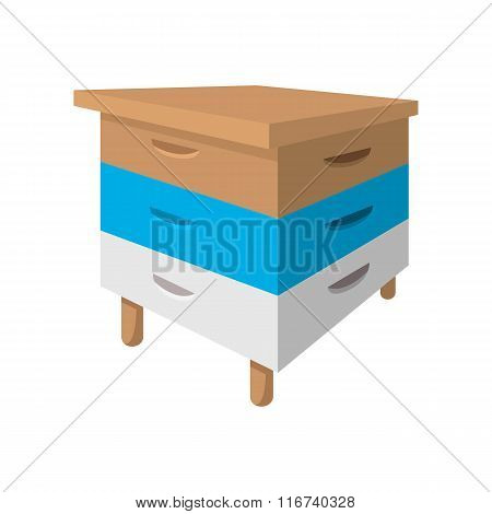 Wooden beehive cartoon icon