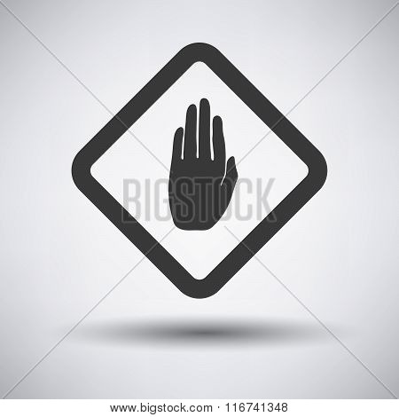 Warning Hand Icon