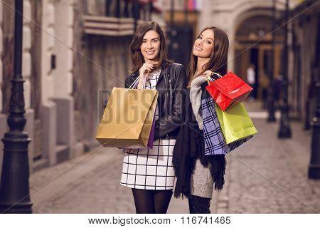 Two Fashion Models Shopping