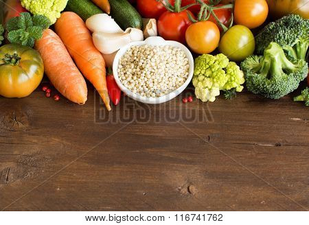 White Sorghum Grain With Vegetables