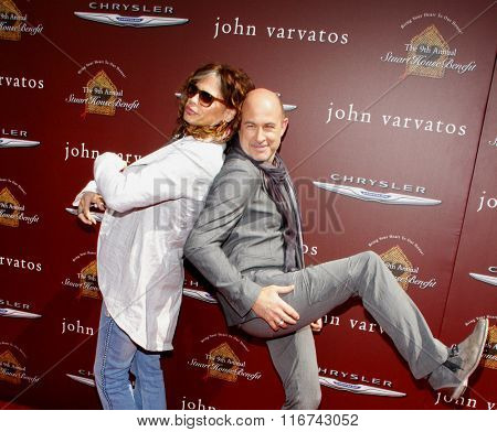 John Varvatos and Steven Tyler at the John Varvatos 9th Annual Stuart House Benefit Presented By Chrysler And Hasbro held at the John Varvatos Boutique, California, United States on March 11, 2012.