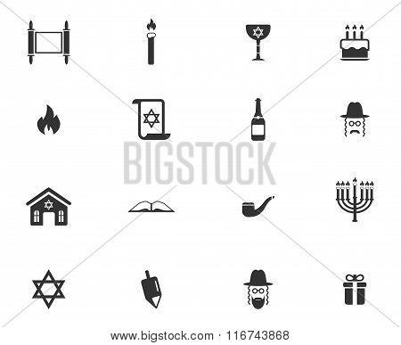 Hanukkah simply icons