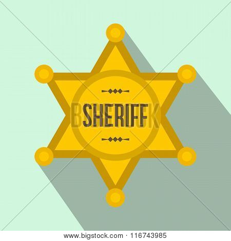 Sheriff star flat icon