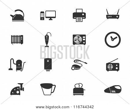 Home applicances simply icons