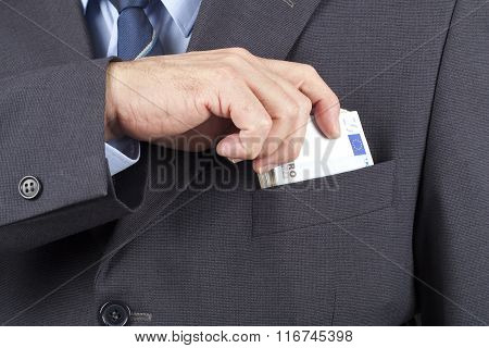 Man With Money In The Pocket
