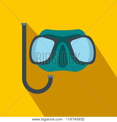 Diving mask flat icon