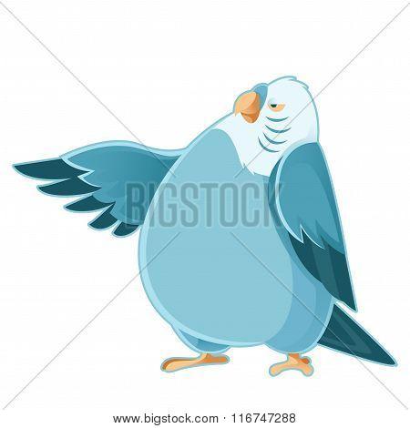 Cartoon fat parrot