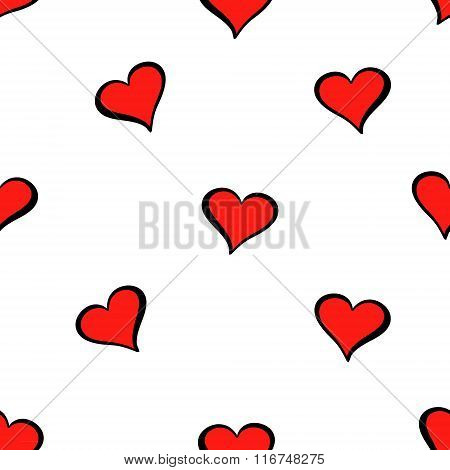 Cute valentine s seamless pattern with hearts