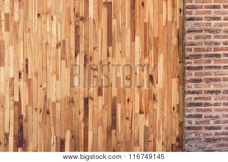 Wood And Cement Brick Wall Design Of Interior Home