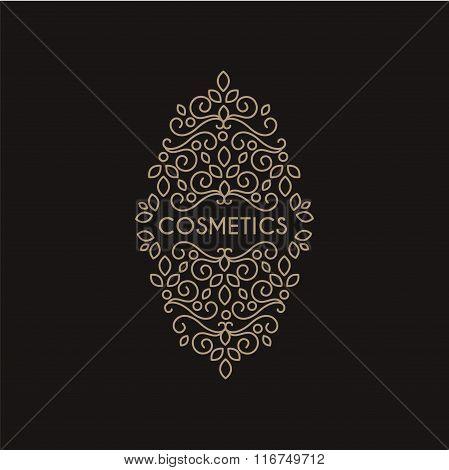 Cosmetics Monogram, Vector Illustration