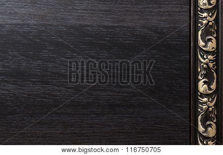 Background With Dark Wood Texture