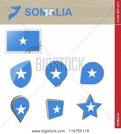 Somalia Flag Set, Flag Set #77