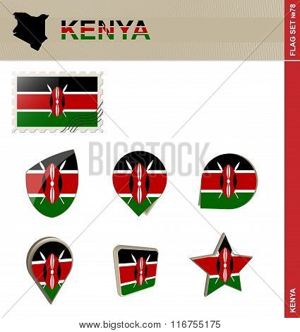 Kenya Flag Set, Flag Set #78