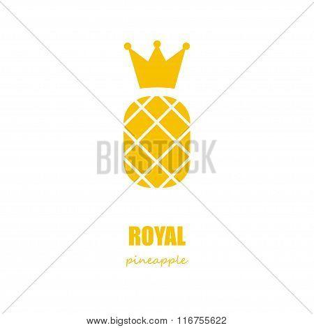 Royal Pineapple Logo Concept
