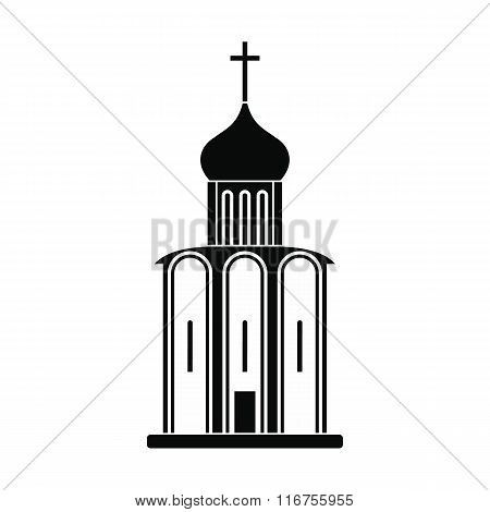 Orthodox church black simple icon