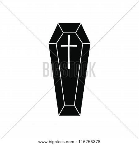 Black classical coffin simple icon