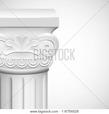 detail  roman column