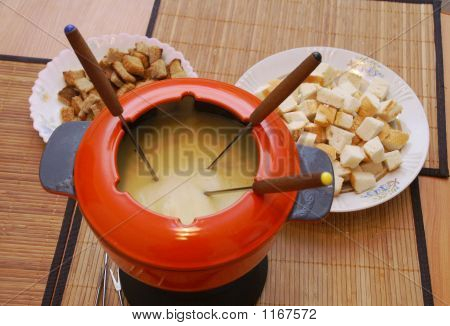 The Fondue In The Big Red Pan
