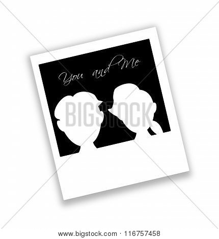 Photo Of Man And Woman Illustration