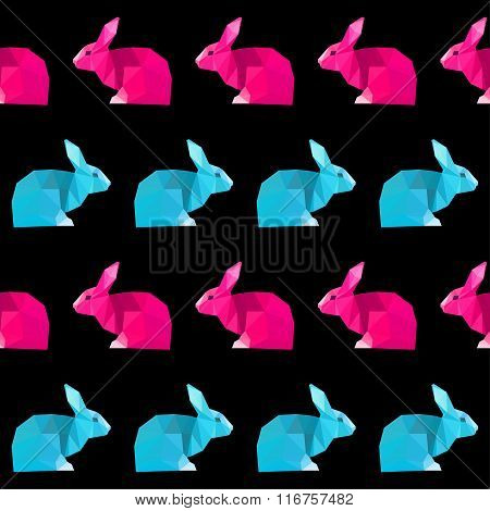 Abstract Geometric Rabbit Seamless Pattern Background For Design
