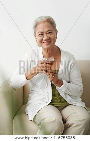 Grandmother with tea