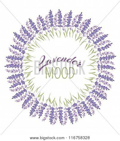 Vector Decorative Lavender Frame