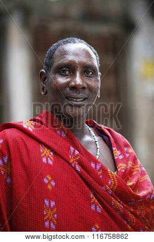 Maasai In Stoun Town