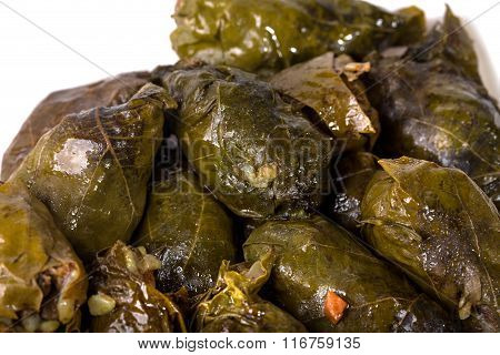 Traditional dolma stuffed with rice.