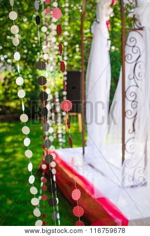 Beautiful Decor For The Wedding Arch In The Summer Garden
