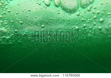 Green Viscous Liquid Bubbles