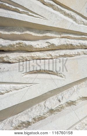 Stone Wall With A Beautiful Abstract Pattern