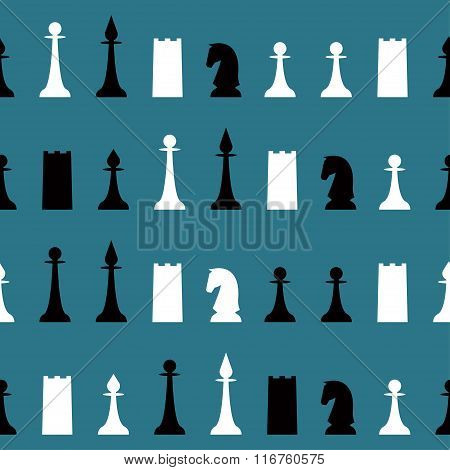 Chess Seamless Pattern Background For Use In Design