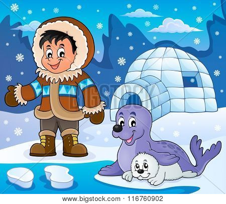 Arctic theme image 5 - eps10 vector illustration.
