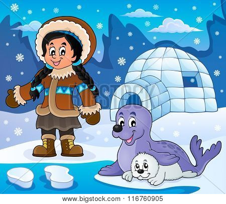 Arctic theme image 6 - eps10 vector illustration.