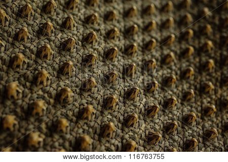 Background. Wicker Texture Close-up Photo.