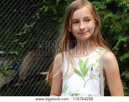 Girl in a zoo