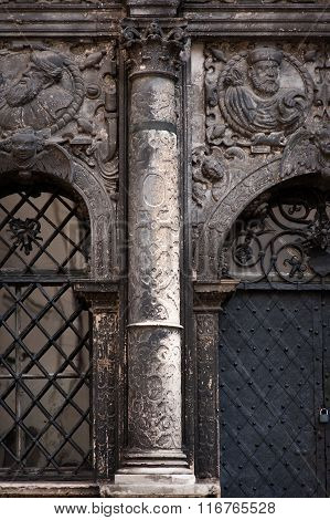 Architecture And Old Column In The Classical Style