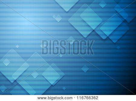 Hi-tech geometric dark blue background