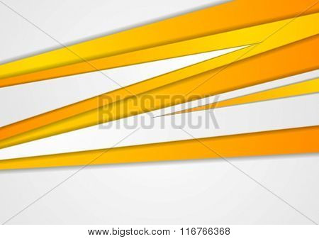 Orange corporate stripes abstract background