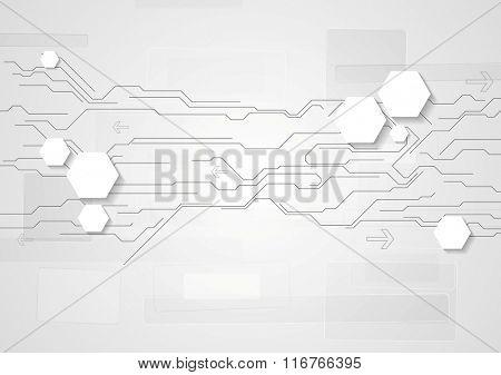 Grey light technology background
