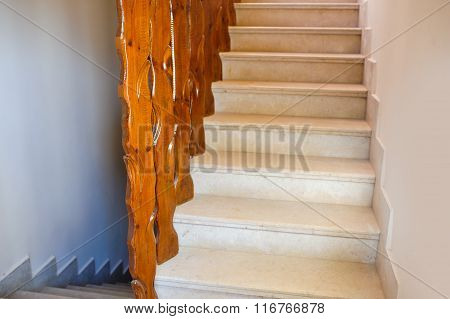 beautiful stone staircase at the Egypt hotel