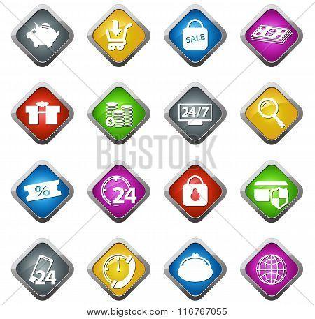 E-commerce icons set