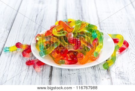 Portion Of Gummi Candy (selective Focus)