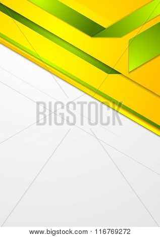 Bright corporate geometric background. Vector design