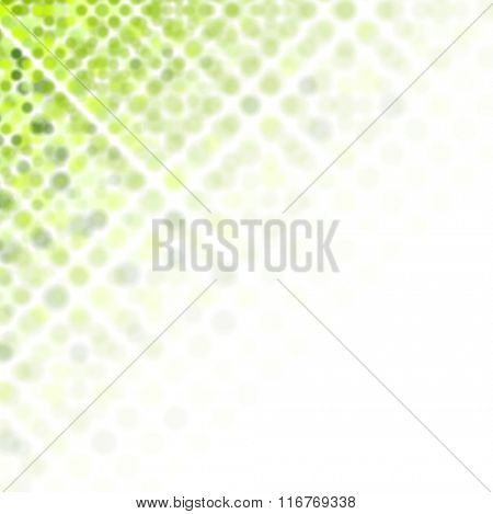 Bright green abstract shiny background. Vector illustration