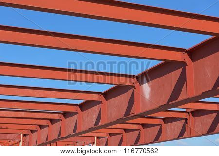 Red Of Steel Girder.
