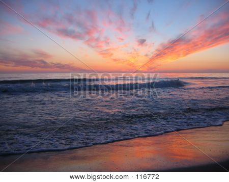A Sunset At A Beach