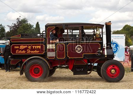 Vintage steam lorry